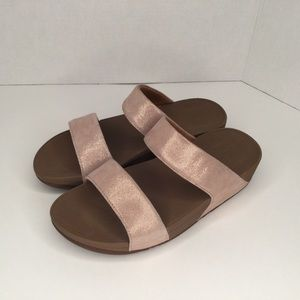 Fitflop super comfortable pink pearl sandals.